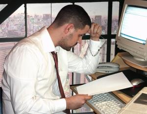 ejecutivo estudiando